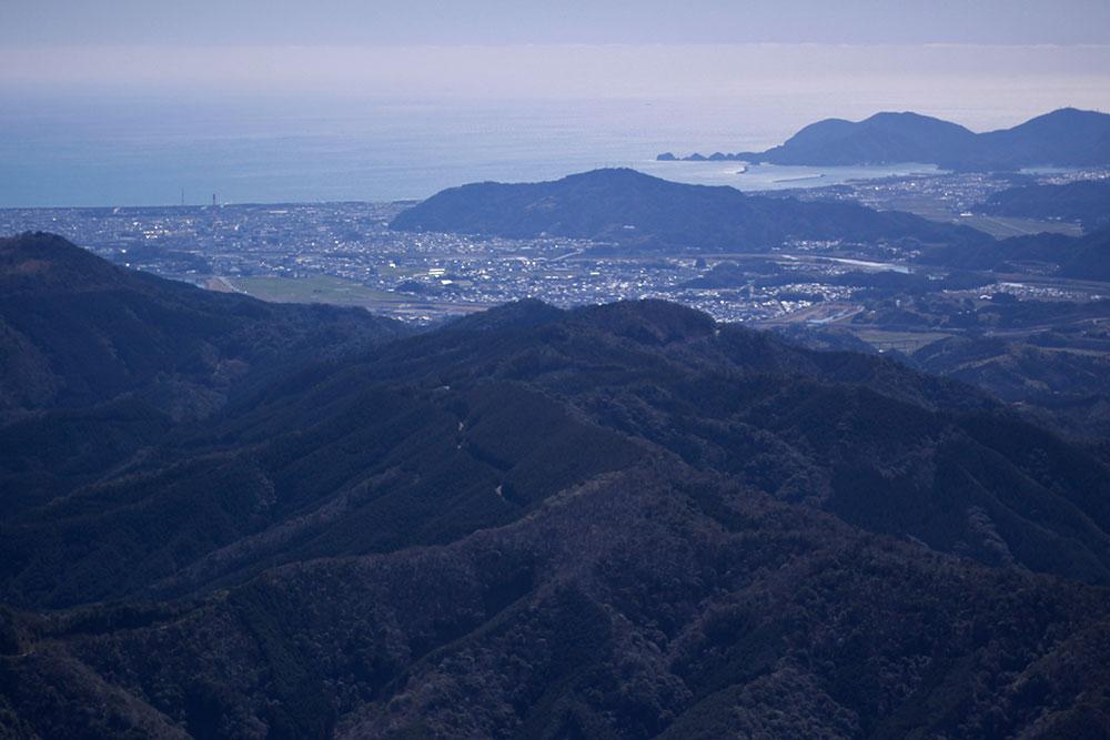 美しい風景を楽しめた山頂