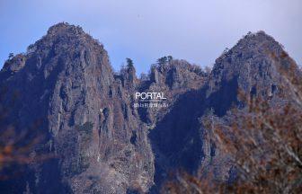 双耳峰の美しい傾山