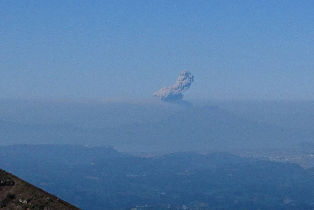 桜島の噴火も眺めたようでした