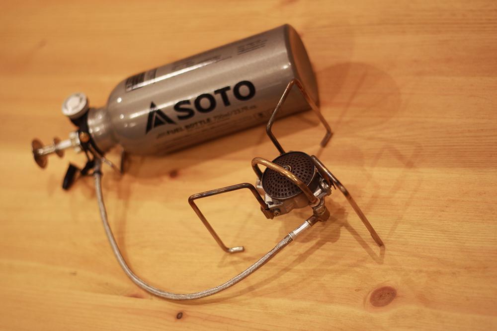 予熱不要のガソリンストーブとして人気のSOTO製「MUKAストーブ」