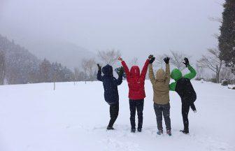 雪景色にはしゃぐ皆さま
