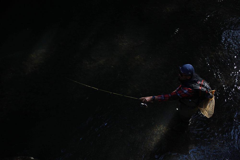 絵になる釣り姿