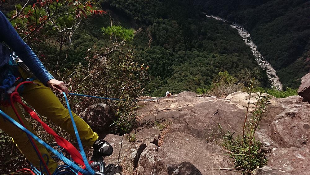 比叡山でクライミングを楽しんで
