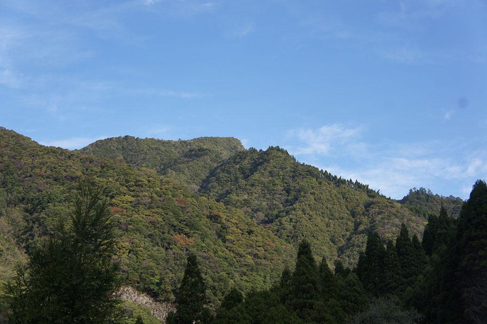 山麓から眺める地蔵岳