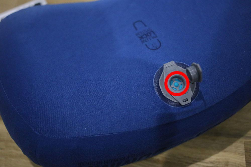 赤丸の箇所で空気の微調整が可能です
