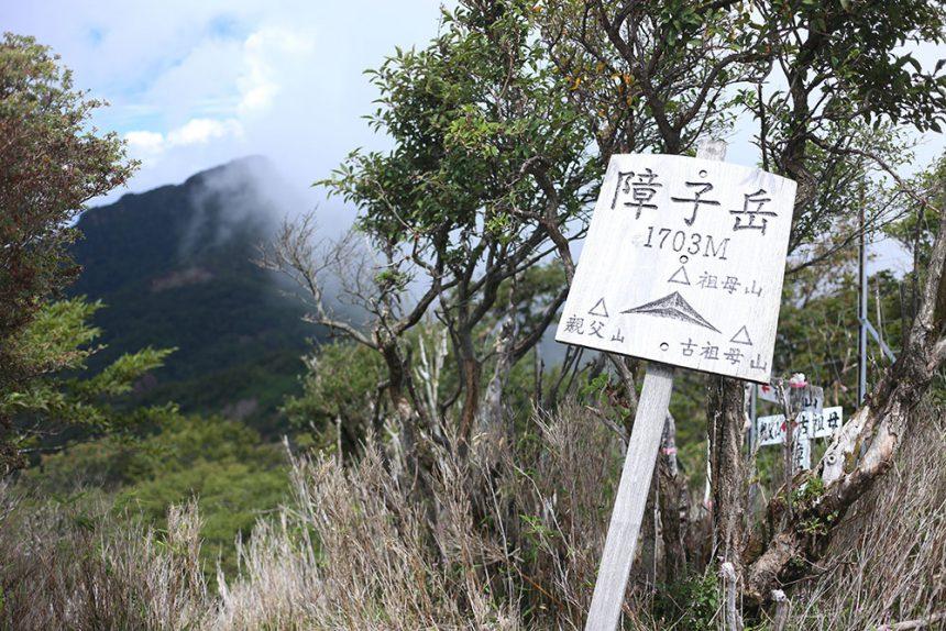 障子岳から眺める祖母山