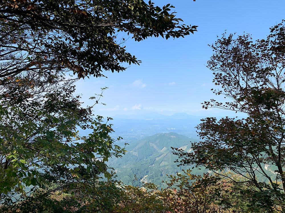 山頂から見える阿蘇