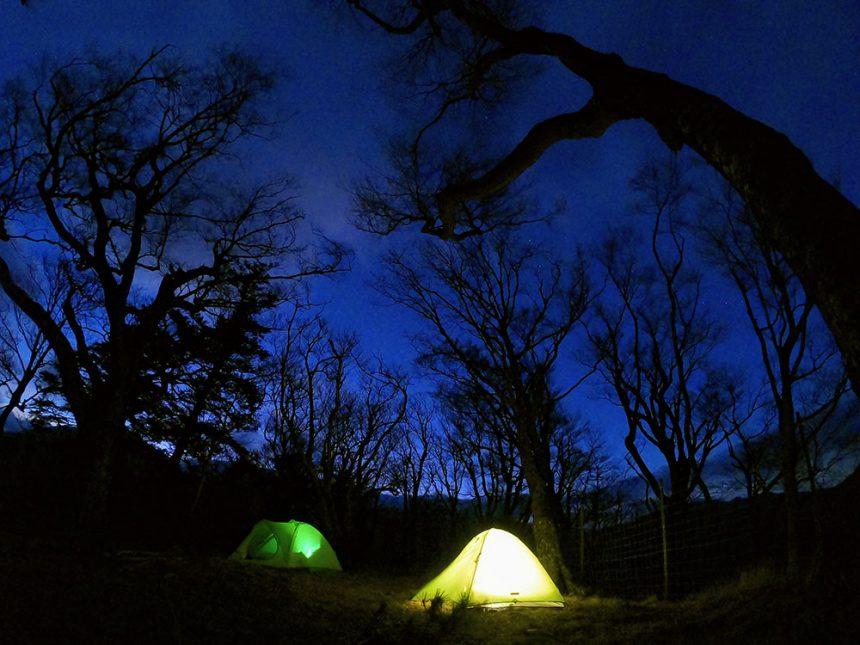 星も綺麗なテント泊