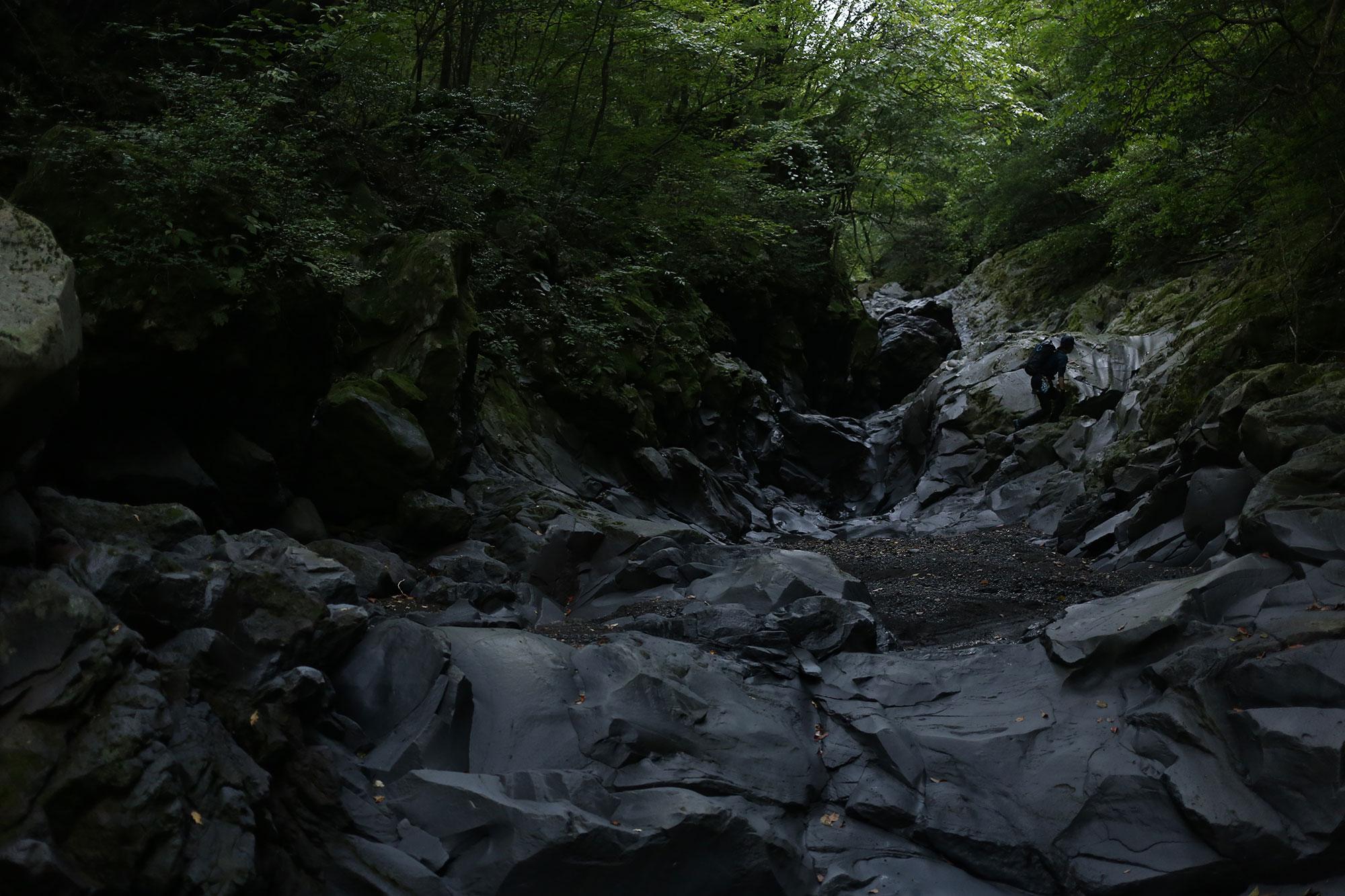 どこまでも続く溶岩流が作り出した造形