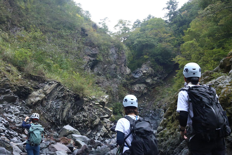 溶岩の作り出した迫力ある景観
