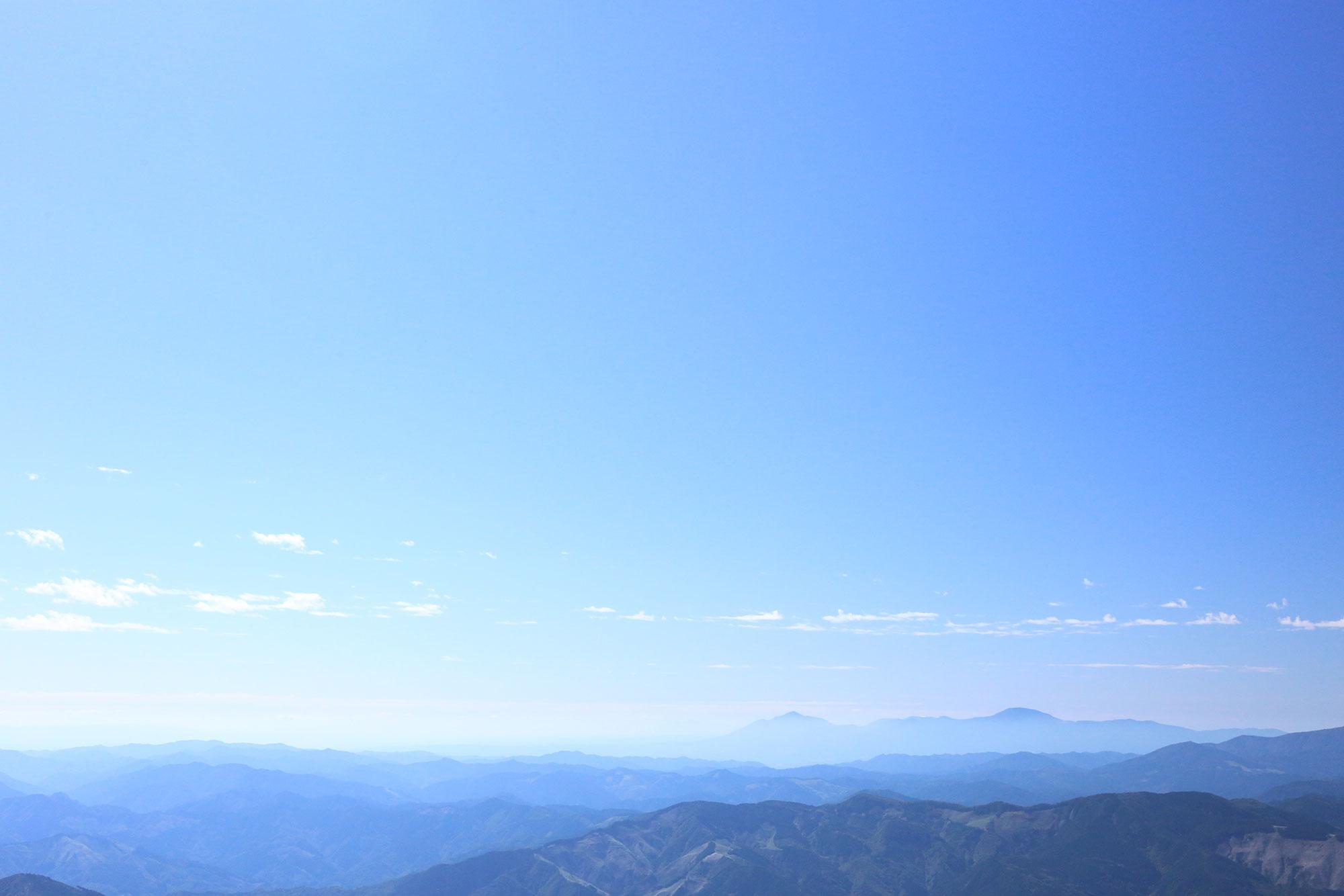 道中に眺めた霧島連山