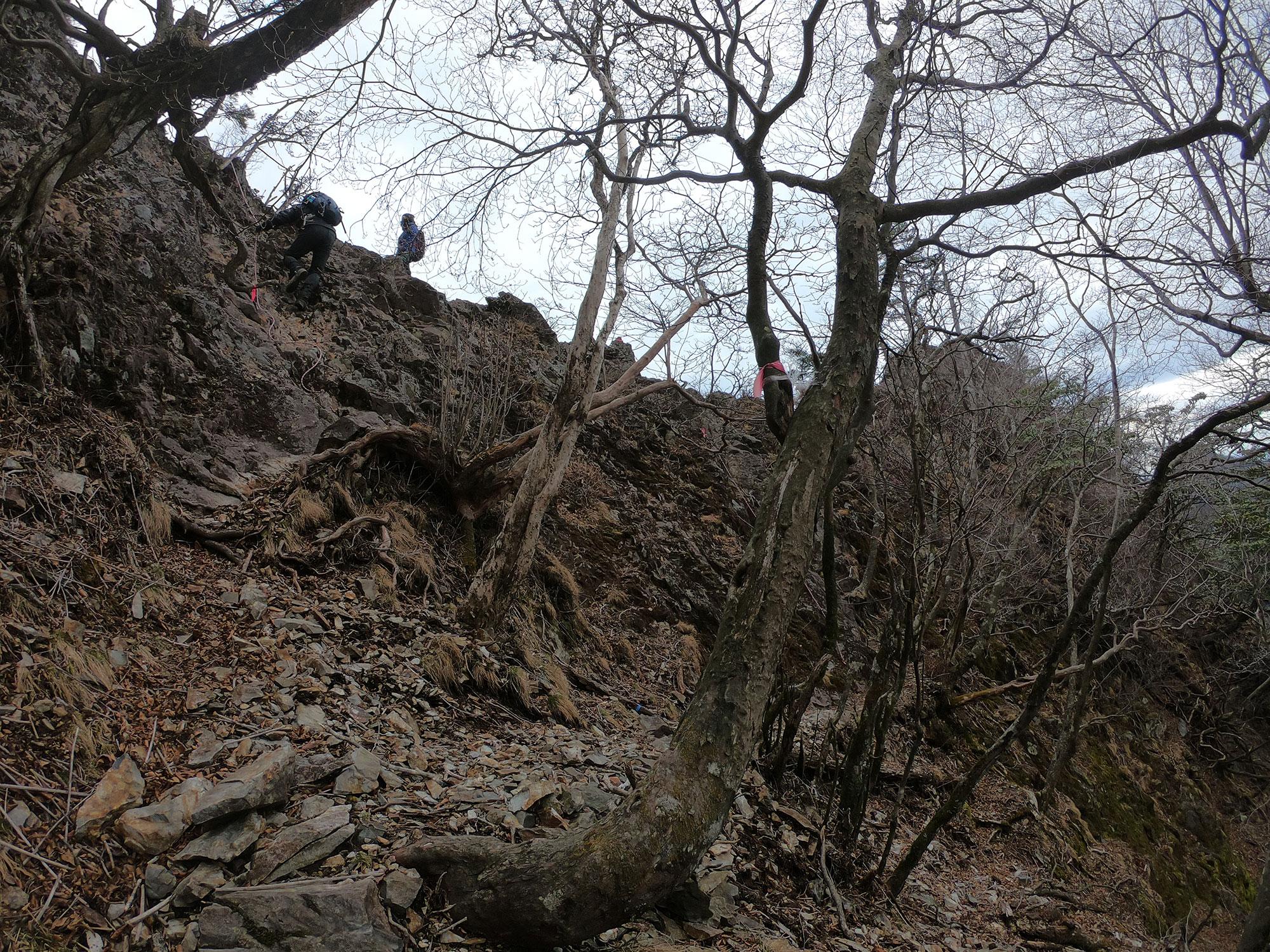 ルート上の岩場