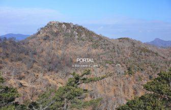 お姫山方面から眺める五葉岳