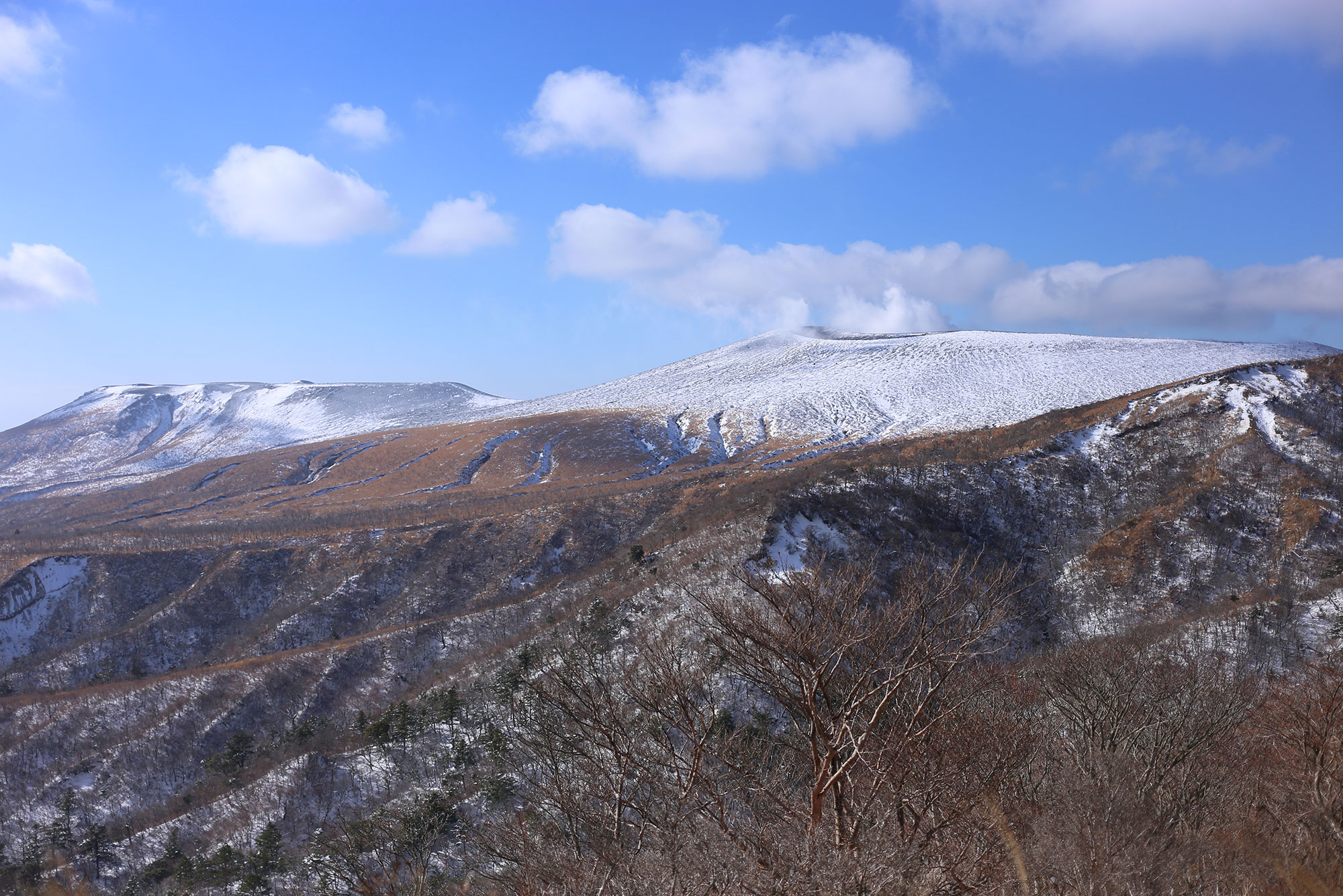 新燃岳と中岳