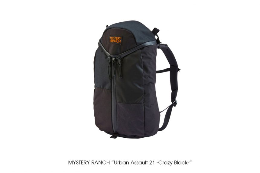"MYSTERY RANCH ""Urban Assault 21 -Crazy Black-"""