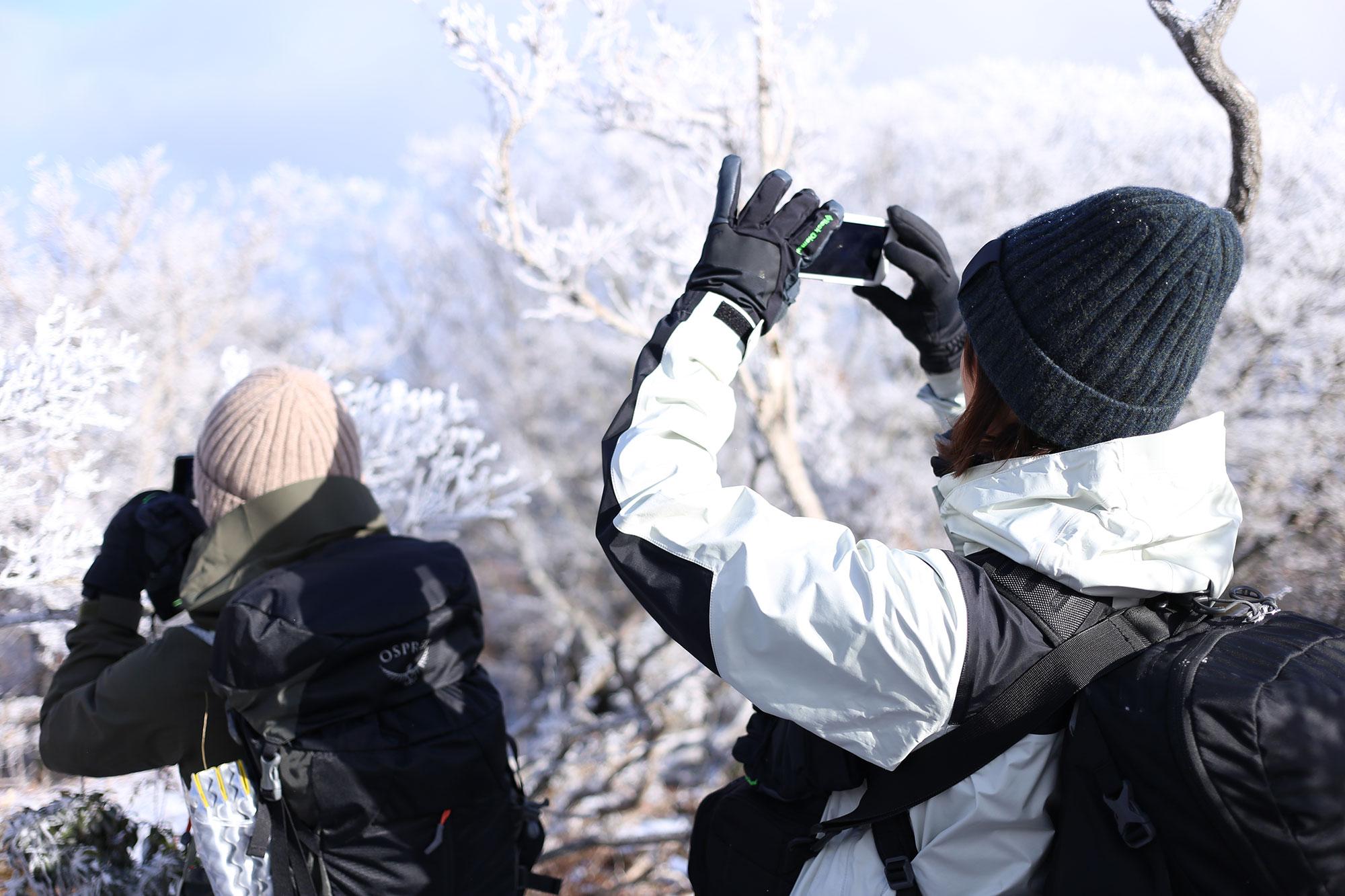 霧氷の撮影を(祖母傾山系にて)