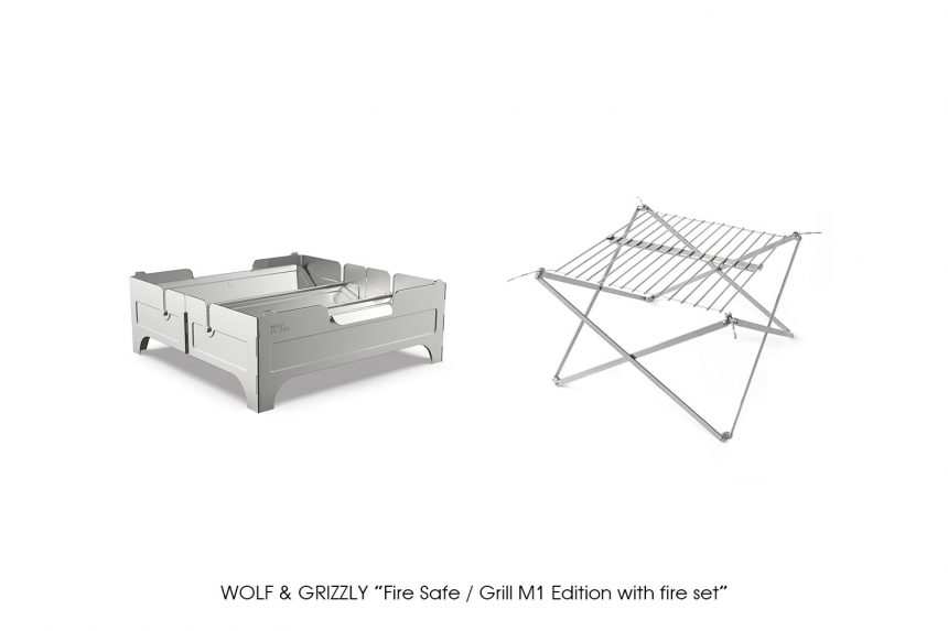 """WOLF & GRIZZLY """"Fire Safe / Grill M1 Edition with fire set"""""""