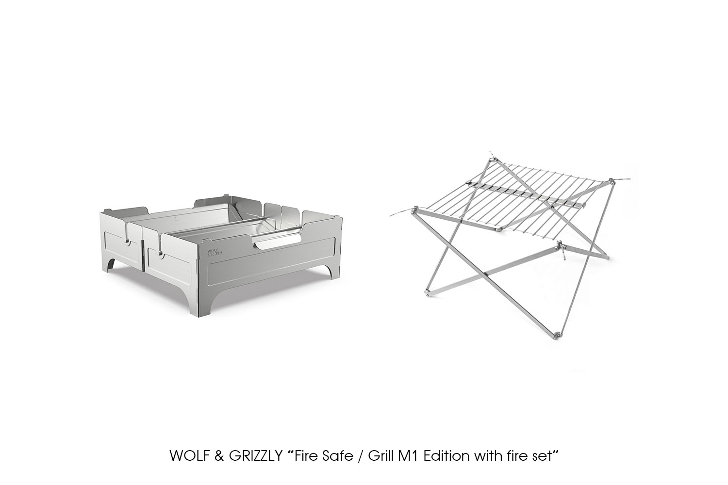 "WOLF & GRIZZLY ""Fire Safe / Grill M1 Edition with fire set"""