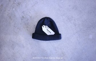 "ROTOTO ""Cotton Roll Up Beanie"""