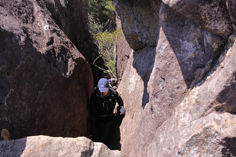 カランコロン岩手前の梯子