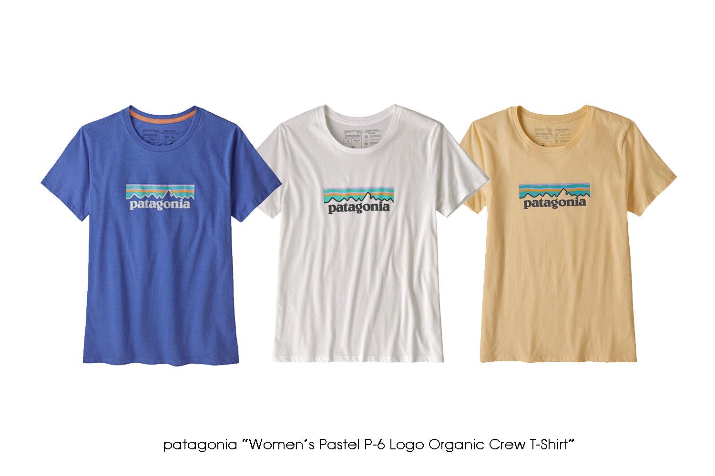 """patagonia """"Women's Pastel P-6 Logo Organic Crew T-Shirt"""""""