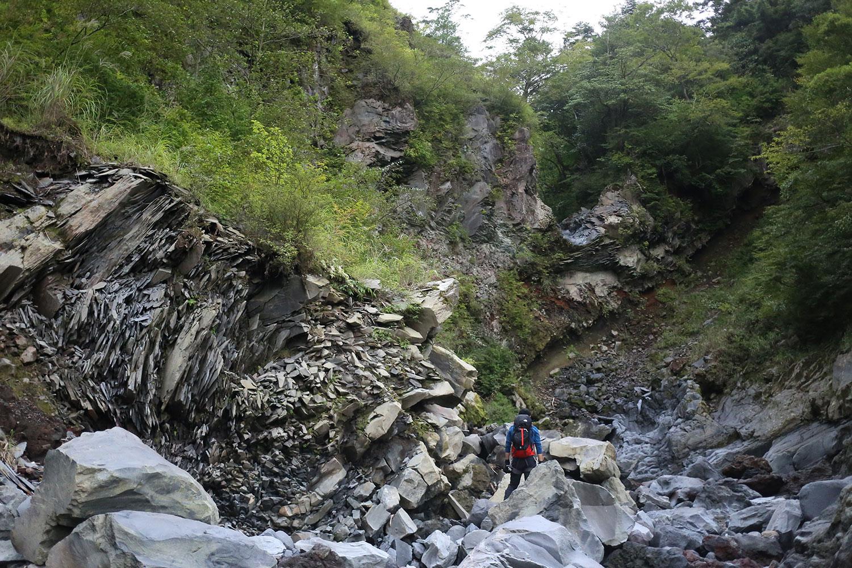 溶岩流が作り出した景観